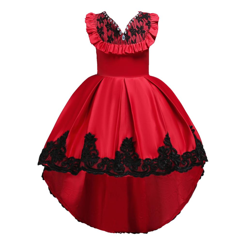 Detské šaty - krátko/dlhé - Detské šaty C00728 - červené (110 - 164) cena 31,90 €