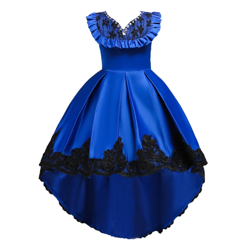 Detské šaty - krátko/dlhé - Detské šaty C00728 - modré (110 - 164) cena 31,90 €