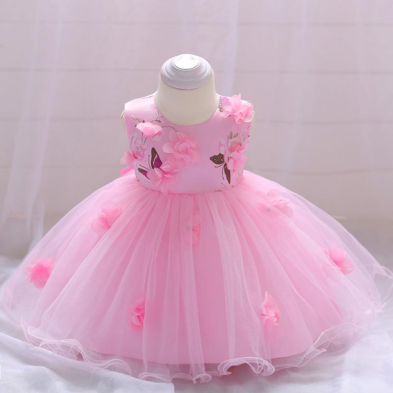 Šaty pre malé princezničky (74 - 98) - Detské šaty L1839XZ - ružové (74 - 98) cena 23,90 €