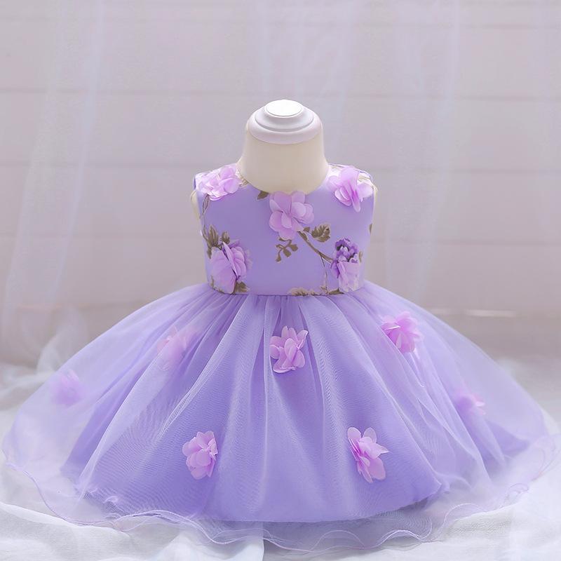 Šaty pre malé princezničky (74 - 98) - Detské šaty L1839XZ - lila (74 - 98) cena 23,90 €