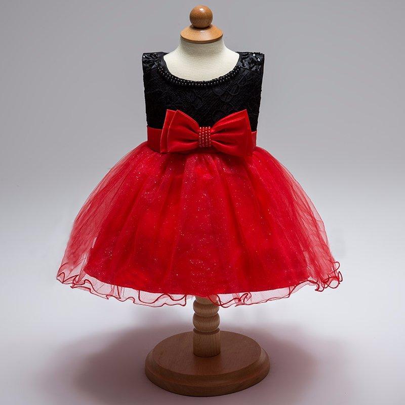 Šaty pre malé princezničky (74 - 98) - Detské šatočky L1833XZ - červené (74 - 92) cena 20,90 €