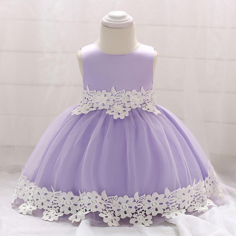 Šaty pre malé princezničky (74 - 98) - Detské šaty L1850XZ - lila (74 - 92) cena 23,90 €