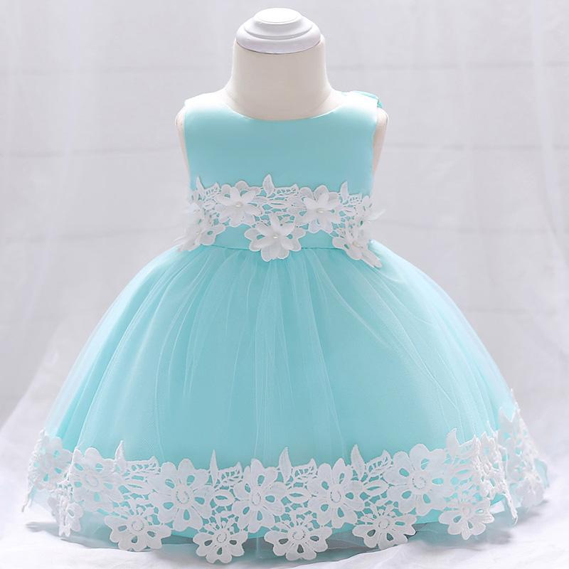 Šaty pre malé princezničky (74 - 98) - Detské šaty L1850XZ - tyrkysové (74 - 92) cena 23,90 €