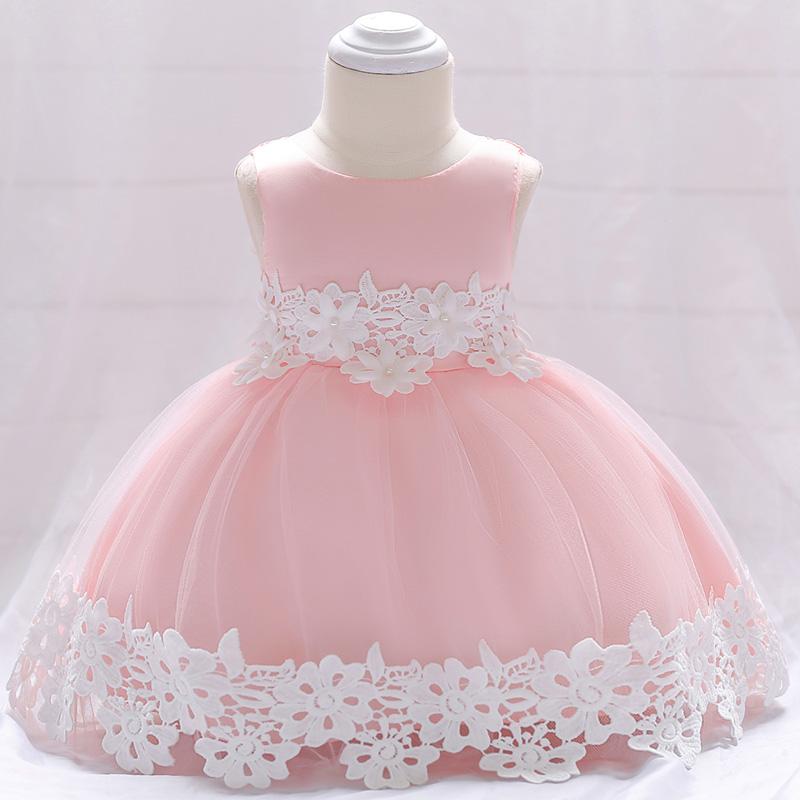 Šaty pre malé princezničky (74 - 98) - Detské šaty L1850XZ - sl. ružové (74 - 92) cena 23,90 €