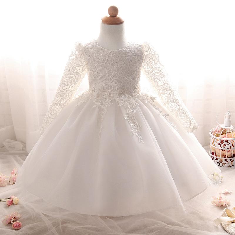 Šaty pre malé princezničky (74 - 98) - Detské šaty L8812XZ - biele (68 - 86) cena 20,90 €