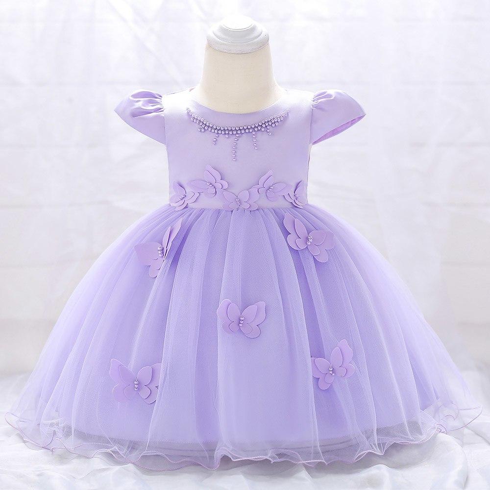 Šaty pre malé princezničky (74 - 98) - Detské šaty L1867XZ - lila (74 - 98) cena 23,90 €