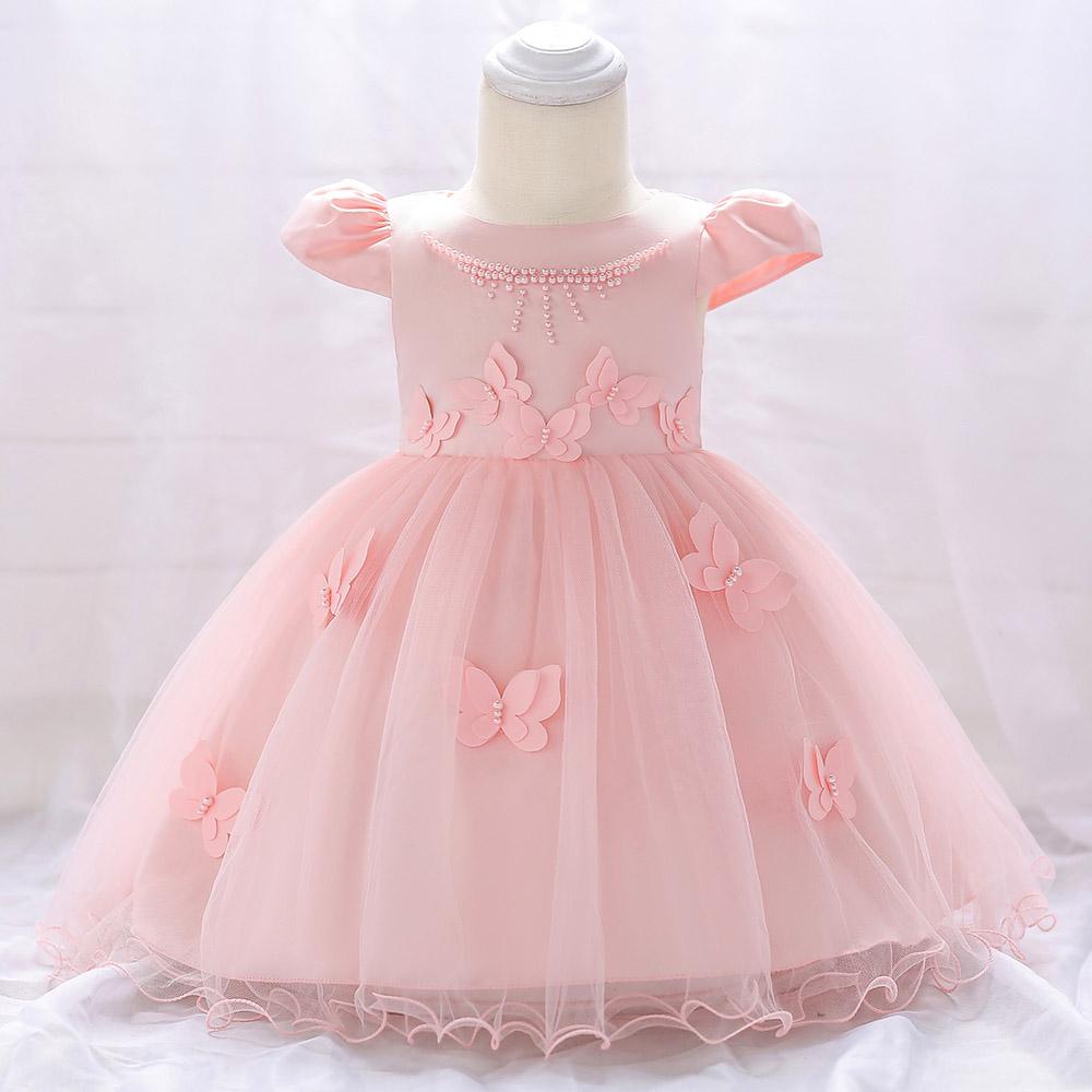 Šaty pre malé princezničky (74 - 98) - Detské šaty L1867XZ - sl. ružové (74 - 98) cena 23,90 €