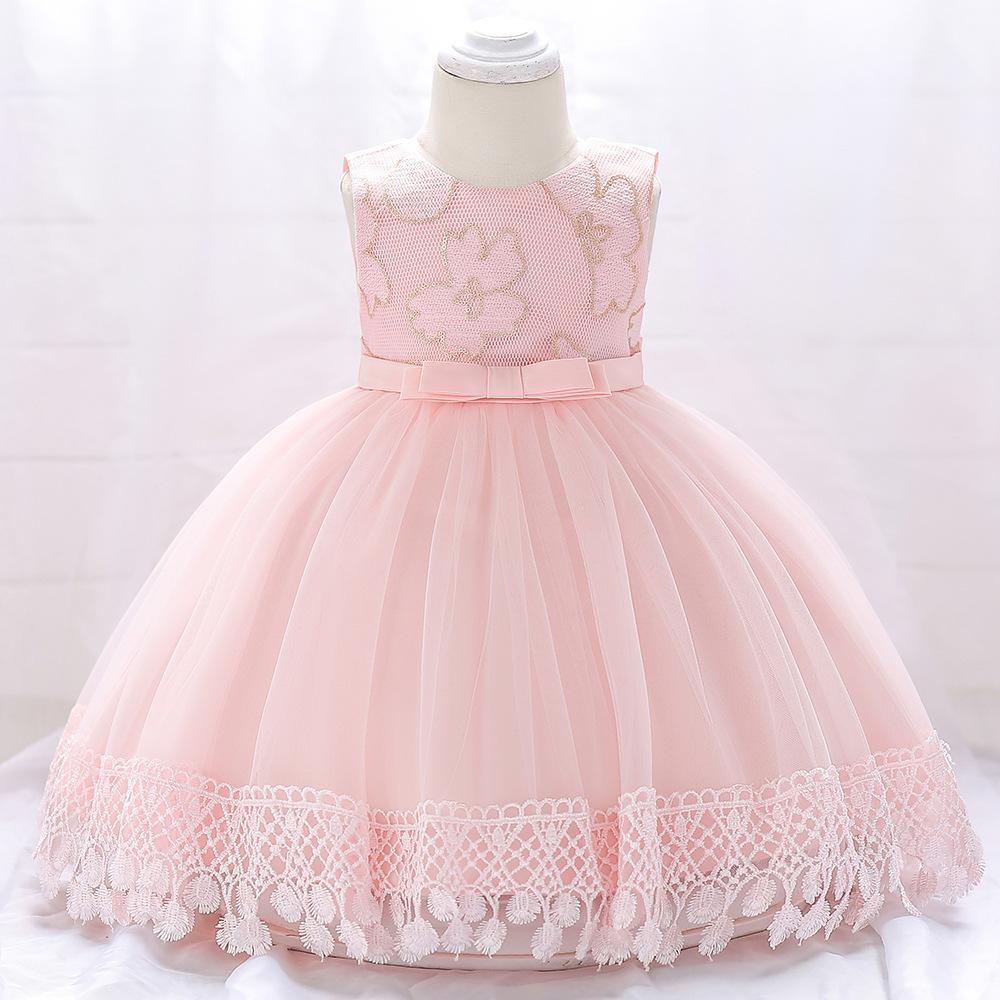 Šaty pre malé princezničky (74 - 98) - Detské šaty L1843XZ - sl. ružové (74 - 98) cena 23,90 €