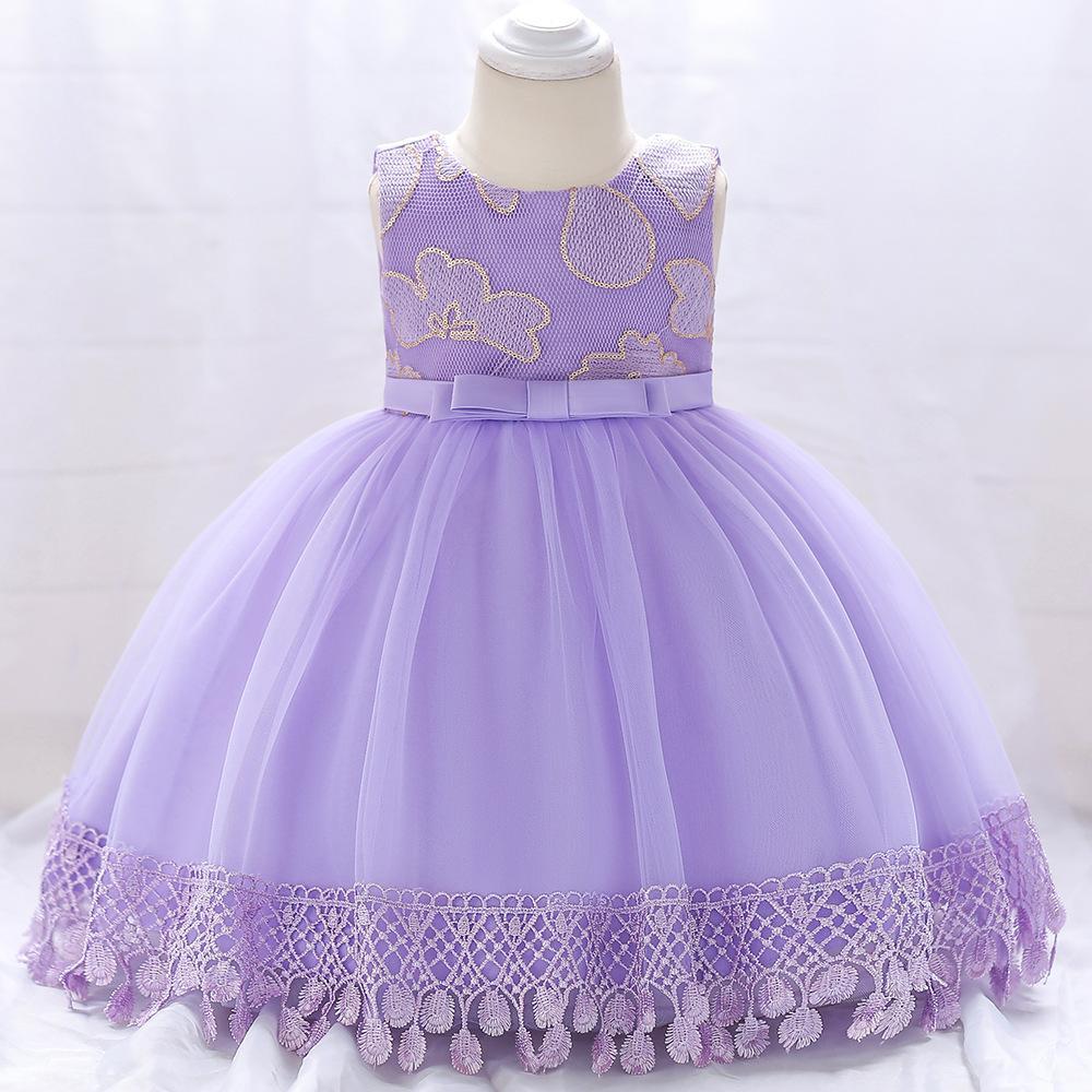Šaty pre malé princezničky (74 - 98) - Detské šaty L1843XZ - lila (74 - 98) cena 23,90 €