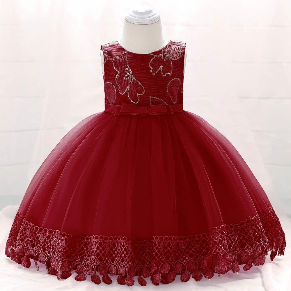 Šaty pre malé princezničky (74 - 98) - Detské šaty L1843XZ - červené (74 - 98) cena 23,90 €