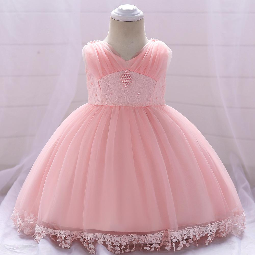 Šaty pre malé princezničky (74 - 98) - Detské šaty L1835XZ - ružové (74 - 98) cena 23,90 €