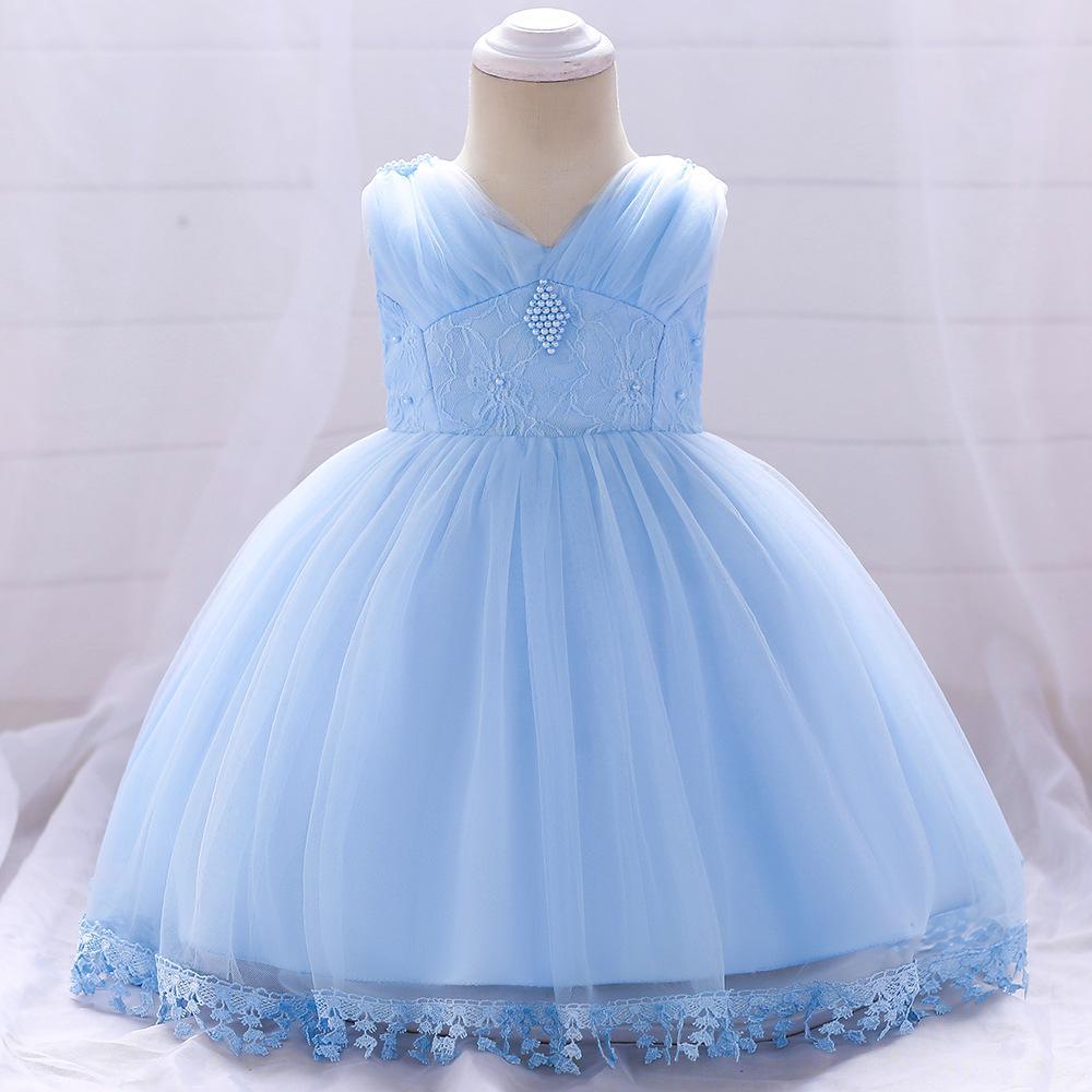Šaty pre malé princezničky (74 - 98) - Detské šaty L1835XZ - modré (74 - 98) cena 23,90 €