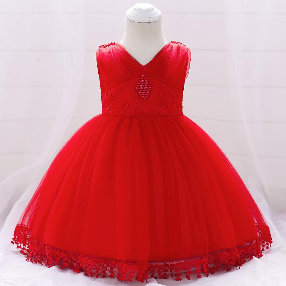 Šaty pre malé princezničky (74 - 98) - Detské šaty L1835XZ - červené (74 - 98) cena 23,90 €