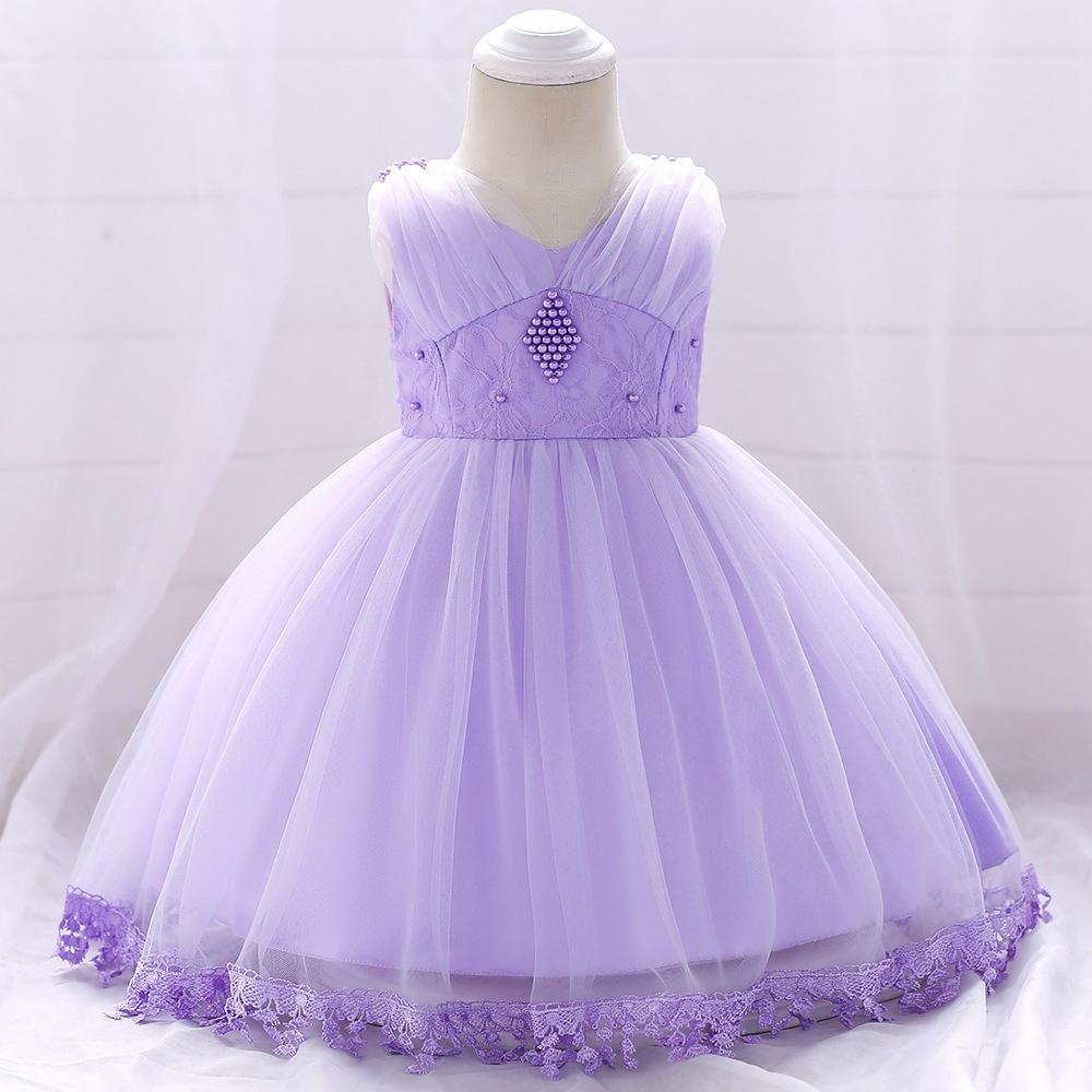 Šaty pre malé princezničky (74 - 98) - Detské šaty L1835XZ - lila (74 - 98) cena 23,90 €