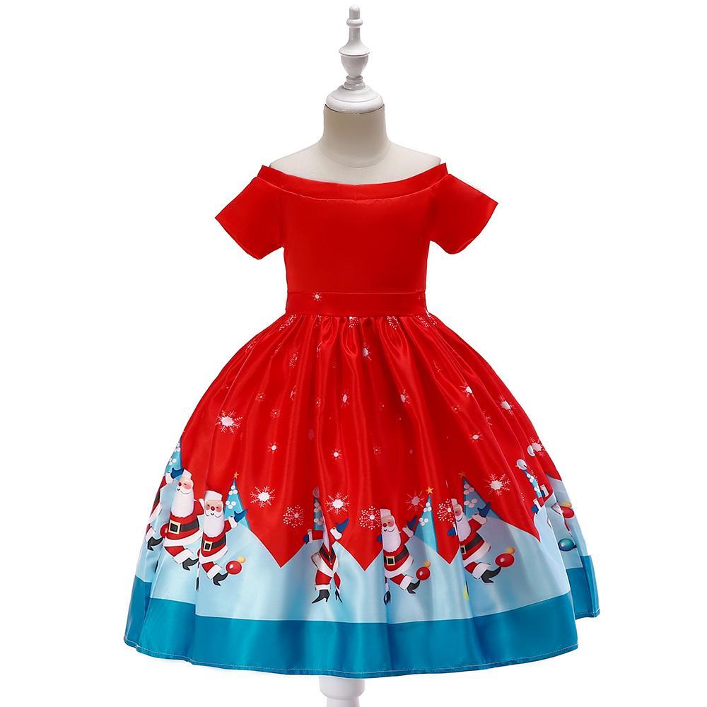 Vianoce - Detské vianočné šaty SD040F (98 - 146) cena 21,90 €