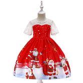 Detské vianočné šaty SD041G (98 - 146) cena 21,90 €