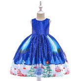 Detské vianočné šaty SD038D (98 - 146) cena 21,90 €