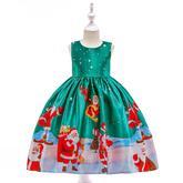 Detské vianočné šaty SD037C (98 - 146) cena 21,90 €