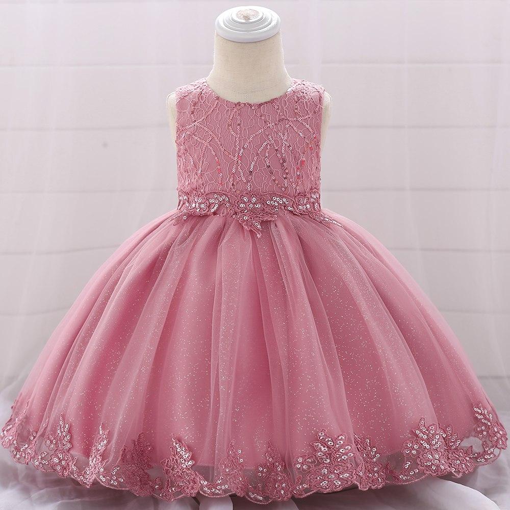 Šaty pre malé princezničky (74 - 98) - Detské šaty L1879XZ - ružové