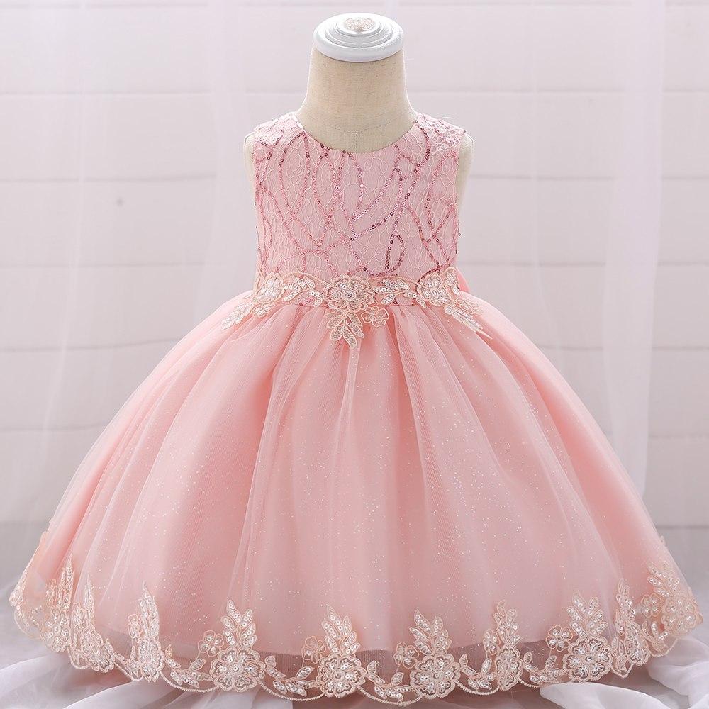 Šaty pre malé princezničky (74 - 98) - detské šaty L1879XZ - sl. ružové