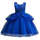 detské šaty C00725 - modré (110 - 152), 128