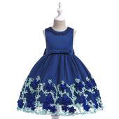detské šaty L5028 - modré (98 - 146), 110