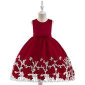 detské šaty L5028 - bordové (98 - 146), 128