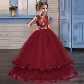 detské šaty LP76 - bordové (122 - 164), 152