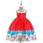 Detské vianočné šaty SD042H (98 - 146), 98
