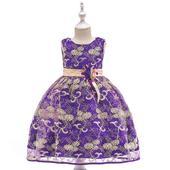 detské šaty L9030 - fialové (110 - 146), 116