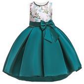 detské šaty T5087 - zelené (110 - 146), 134