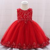 detské šaty L1879XZ - červené (74 - 98), 74