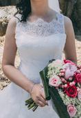 Svadobné šaty NENUFAR - vintage luxusne, 40