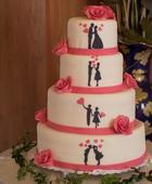 Šablony příběh na dort nebo dekoraci,
