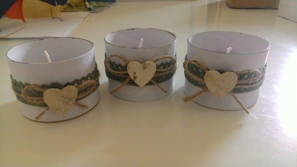 ♥M+P♥ Přípravy - Další dekorace do sbírky, dám do toho čajové svíčky :-) původně to byli kalíšky ve kterých byl sypaný čaj :-D