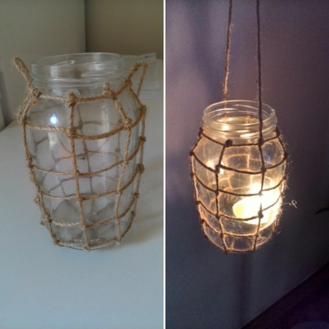 ♥M+P♥ Přípravy - Výroba závěsných lampionů. Ve vnitř bude čajová svíčka a budou zavěšené ruzně venku na stromech :-)