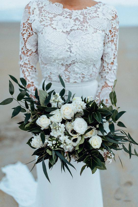 ♥M+P♥ Přípravy - Ještě mým favoritem tato svatební kytice, takže to bude asi taková kombinace z každé něco :-)
