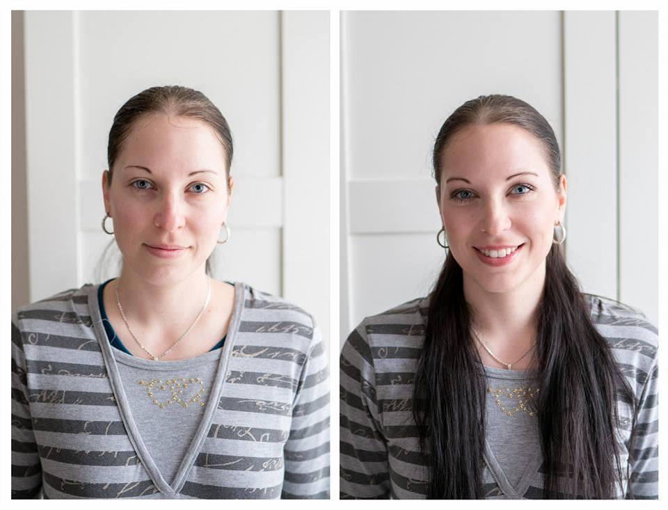 ♥M+P♥ Přípravy - Zkouška líčení, před a po...svědkyně ženicha