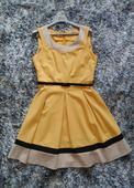 Žlté Á-čkové šaty, 42