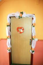 výzdoba na dvere...
