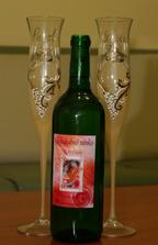 Naše svadobné poháre...Sú nádherné presne také aké som chcela..