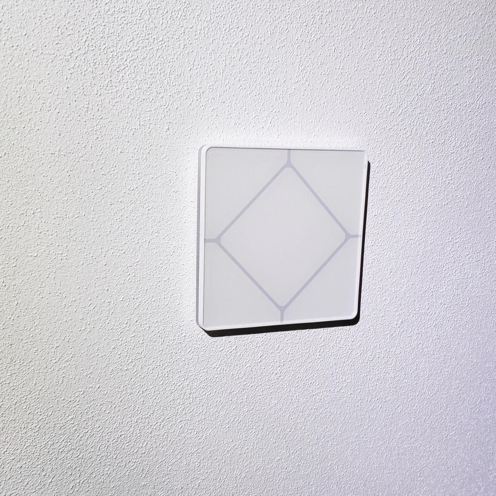 Vypínače a zásuvky do domu - Najčastejšie programovanie - po stranách žalúzie hore a dole, stredný spínač svetelné scény