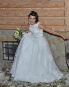 Čipkované svadobné šaty - ivory, 38