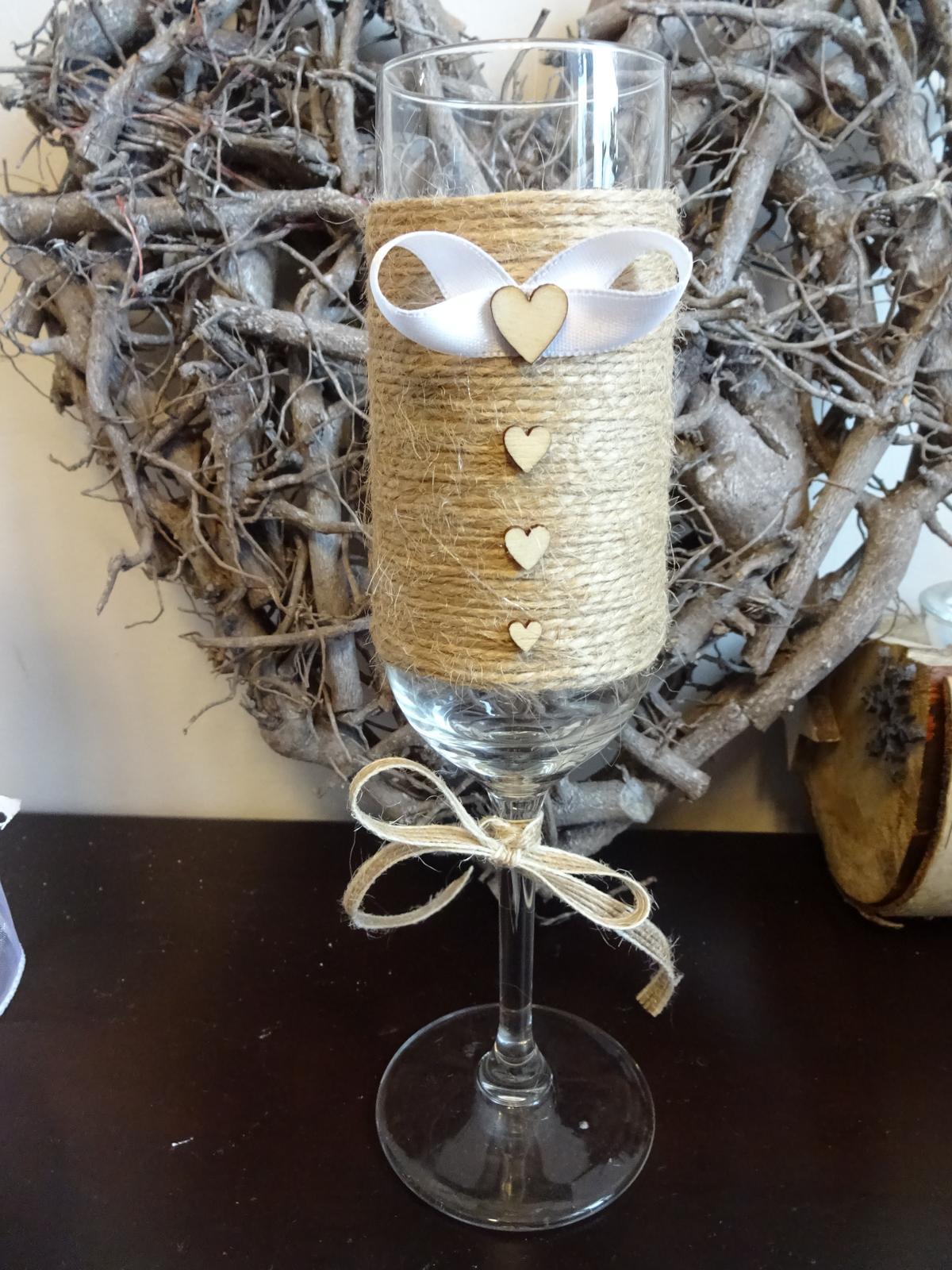 Přípitkové skleničky nevěsta a ženich  - Obrázek č. 3