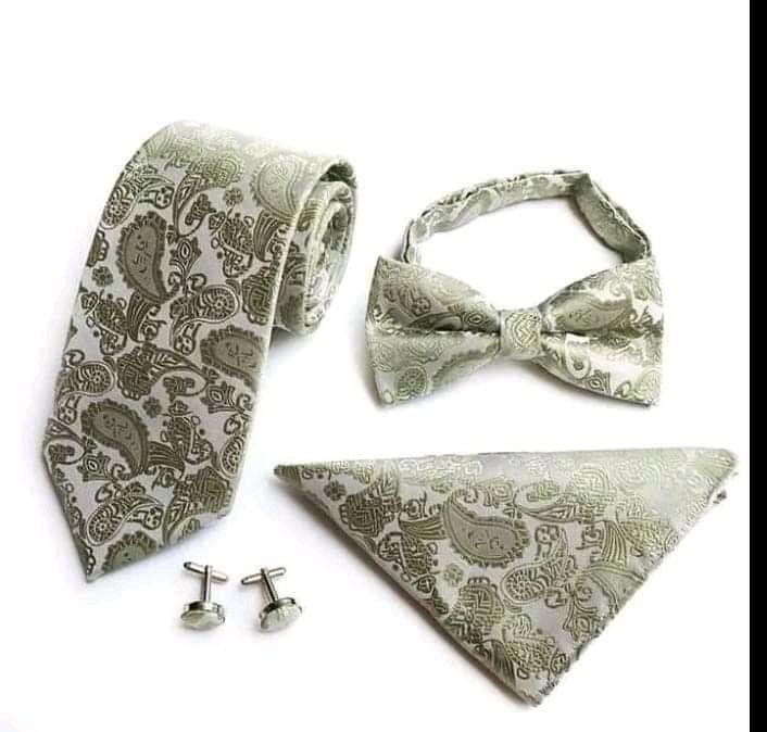 Set motilik kravata manzetove gombiky vreckovka - Obrázok č. 1