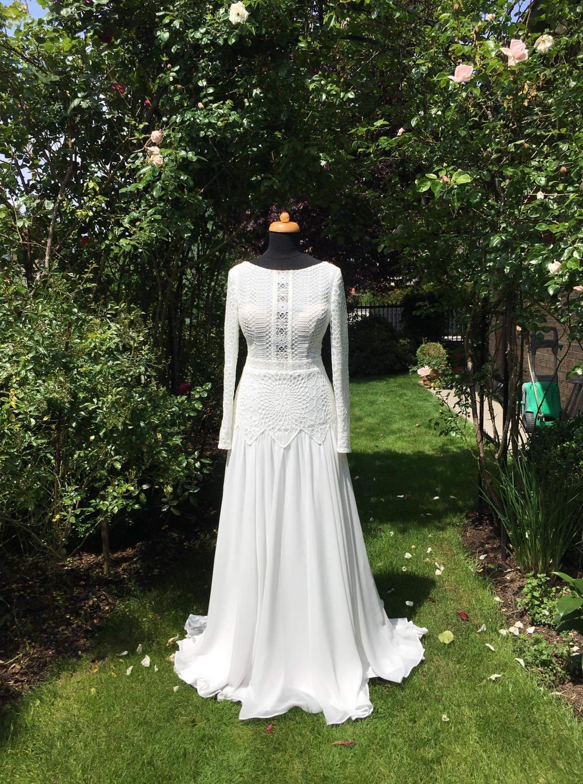 Svatební šaty – BOHO STYL, vel. 34, barva IVORY. Model 2020. - Obrázek č. 2