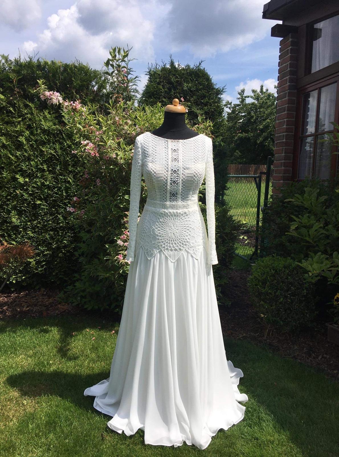 Svatební šaty – BOHO STYL, vel. 34, barva IVORY. Model 2020. - Obrázek č. 3