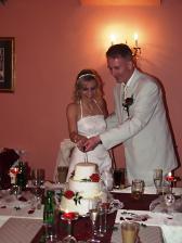 náš svatební marcipánový dortík