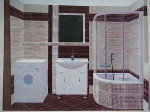 takto máme navrhnutú kúpeľku...