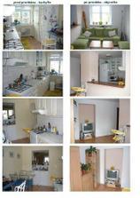 pred prerábkou kuchyňa - po prerábke obývačka